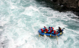 River Rafting. Chilko river british columbia/river rafting Stock Images