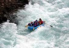 River Rafting. Chilko river british columbia/river rafting Royalty Free Stock Photo