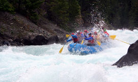 River Rafting. Chilko river british columbia/river rafting Stock Image