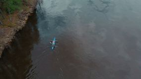 River rafting. Air shooting from the drone stock video