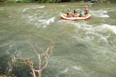 River rafting elo Magelang District Royalty Free Stock Image