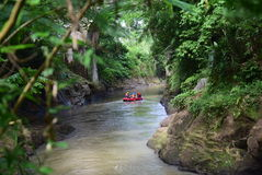 River rafting elo Magelang District Royalty Free Stock Photo