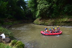 River rafting elo Magelang District Royalty Free Stock Images