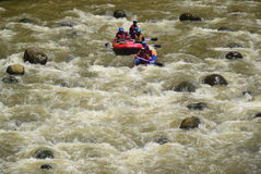 River rafting elo Magelang District Royalty Free Stock Photos