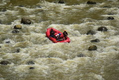 River rafting elo Magelang District Stock Photo