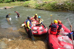 River rafting elo Magelang District Stock Image