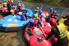 River rafting elo Magelang District Stock Images