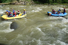 River rafting elo Magelang District Stock Photos