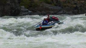 River rafting Hells Canyon Snake River Idaho stock video footage