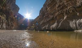 River Rafting on the Rio Grande. In Big Bend Royalty Free Stock Photography