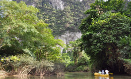 River rafting. Thailand. Royalty Free Stock Images