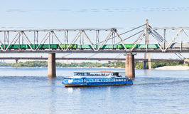 River and railroad transport Stock Images