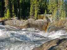 River, Rainbow, Wilderness, Natural Bridge Stock Photo
