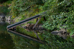 River Ramp and Reflection Stock Images