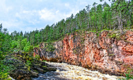 River rapid. In canyon in Lapland Finland Royalty Free Stock Photography