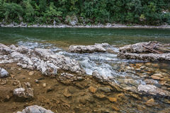 River with a rapid current. Royalty Free Stock Photography