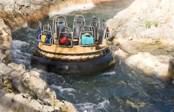 River rapid ride. Shot of a boat in a river rapid ride Stock Image