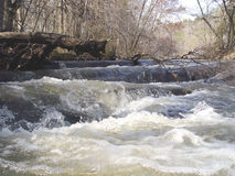 River Rapids. Fast white water river flow stock image