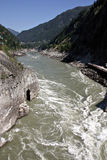 River rapids. Class 5 rapids taken in British Columbia stock photography