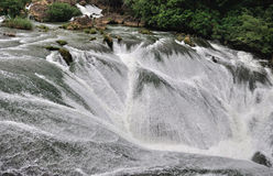 River rapids. Panoramic view of the river rapids.Photo taken on: October 2, 2012 Royalty Free Stock Image