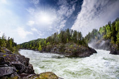 River Rapids. A nature landscape of river rapids in Norway Stock Image