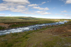 River with rapids in Iceland Stock Images