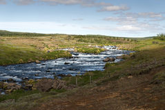 River with rapids in Iceland Royalty Free Stock Images