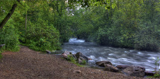 River Rapids In Hdr Royalty Free Stock Photos