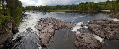 River rapids panorama Royalty Free Stock Images