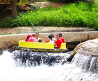 River Rapids ride, Warner Park, Madrid Royalty Free Stock Image