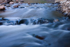 River Rapids Running Fast. Royalty Free Stock Images
