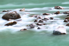 River rapids and stones Royalty Free Stock Photo