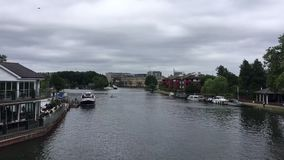 River in Reading stock video footage