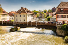River Regnitz in Bamberg Stock Photos