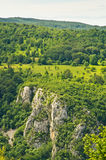 River Resava gorge in east Serbia. Tracking through river Resava gorge in east Serbia royalty free stock photos