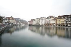 River Reuss Lucerne Switzerland stock photo