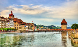 The river Reuss in Lucerne, Switzerland Royalty Free Stock Photography