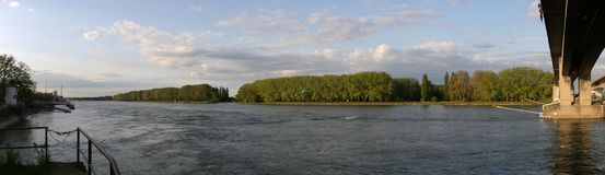 River rhine Royalty Free Stock Image