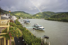 River Rhine at Boppard, Germany Royalty Free Stock Photo