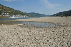 River rhine dried up Royalty Free Stock Images