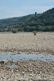 River rhine dried up Stock Photos