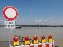 River Rhine Flood Royalty Free Stock Image