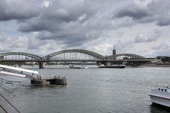 River Rhine, Hohenzollernbruecke, Koeln Cologne Germany Royalty Free Stock Images