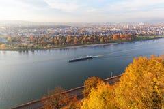 River Rhine at Koblenz, Germany Stock Image