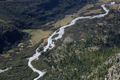 River Rhone in the alps Stock Image