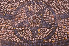 River Rock pebbles background on floor. The idea for decoration Stock Image