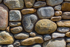 River Rock Wall Horizontal Stock Image