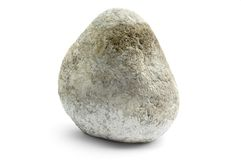 River Rock on White Royalty Free Stock Photography
