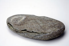 River rock on white background Royalty Free Stock Photo