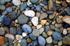 River Rocks. Colorful rocks smoothed by ocean Royalty Free Stock Images